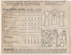 Original Vintage 1940s McCall Dress Sewing di sentimentalbaby