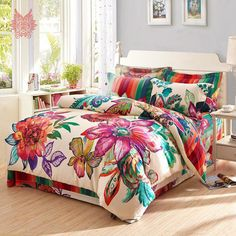 40 the ultimate hollywood boho duvet cover set trick 27 athomebyte Boho Duvet Cover, Comforter Cover, Duvet Cover Sets, White Bedding, Bedding Sets, Cozy Bedroom, Bedroom Decor, Discount Bedroom Furniture, Home And Deco