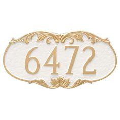 Montague Metal Charleston Address Sign Wall Plaque - PCS-0018S1-W-