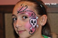 Image detail for -Pink Pirate Skull Pirate Face Paintings, Girl Face Painting, Face Painting Designs, Body Painting, Skeleton Face Paint, Skull Face Paint, Pirate Kids, Pirate Day, Pirate Girl Makeup