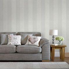 Graham & Brown Artisan Stripe Dove Wallpaper