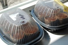 """Rotisserie chicken container - use as a """"greenhouse"""" to start seeds!"""