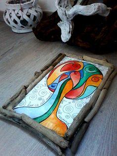 Albero dipinto originale albero con cornice in di Pinkincloud