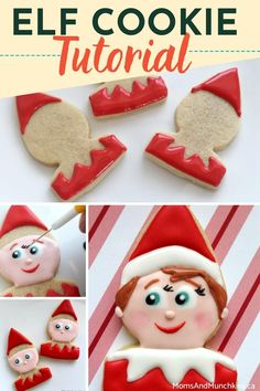 Want to usher in the Elf's arrival from the North Pole? These elf cookies are the perfect sweet treat to accompany the Elf to your shelf! Learn how to make these with our easy to follow tutorial as a silly prop for the next 25 days of festive fun. Cookie Tutorials, Cookie Icing, Love Cake, The Elf, Cookie Decorating, Sugar Cookies, Happy Holidays, Holiday Recipes, Cupcake Cakes