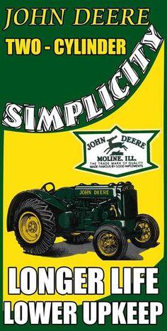 John Deere 1960's Farm Implements Vintage Style Metal Sign 18 Inch