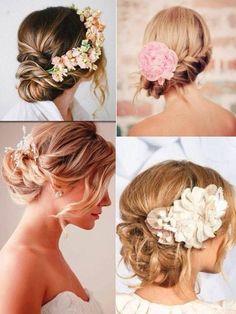 Bun with flower bridesmaid