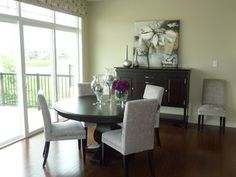 Dining Room in Model Home - modern - dining room - edmonton - by Willow Tree Interiors