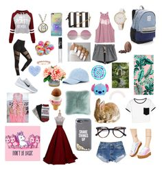 """""""My style April 2017"""" by freyjafifi on Polyvore featuring WithChic, RVCA, NIKE, Liliana, Levi's, Victoria's Secret, Kate Spade, PBteen, Aéropostale and NARS Cosmetics"""
