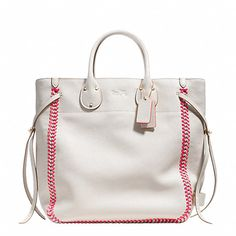 this could be totally be a summer baseball purse from COACH...