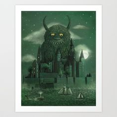 Age of the Giants  Art Print by Terry Fan - $18.00