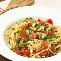 Pasta with Fresh Tomatoes and Herbs Recipe - ZipList