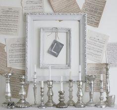 Sheet music, French Larkspur: Mercury Glass Love...