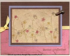 Cracked Glass by Beate Johns.....Layers of Ultra Thick Embossing Enamel (UTEE) give your stamped images an antique look.