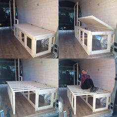 01 Bed Design Donkey Van Conversion Building the Furniture And Decorating Van Conversion Build, Van Conversion Interior, Camper Van Conversion Diy, Campervan Bed, Campervan Interior, Camper Beds, Diy Camper, Berlingo Camper, Popup Camper Remodel