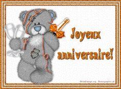 Je t'envoie mes voeux pour ton anniversaire avec le désir de te voir Messages, Happy Birthday, Snoopy, Teddy Bear, Photos, Animals, Fictional Characters, Images, Couture