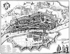 Map of Bremen German Fairy Tales, Merian, Old Buildings, City Photo, Fantasy, Round House, Castles, Pictures, Bremen