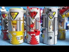 Power Rangers Dino Super Charge Zyuden Sentai Kyoryuger Dinocell Toys - YouTube