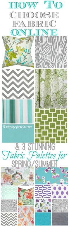 3 Stunning Fabric Palettes for Spring/Summer and How to Choose Fabric Online - The Happy Housie