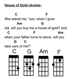 House of gold by twenty one pilots ukulele tabs on for Classic house chords