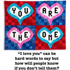 Love makes the world go round. Hard Words To Say, I Love You, My Love, Note Cards, My Etsy Shop, Quilts, Sayings, Big, Te Amo