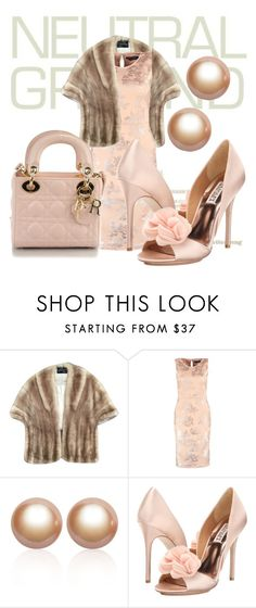 """""""Untitled #542"""" by kristina-lindstrom on Polyvore featuring Dorothy Perkins, Amour de Pearl, Badgley Mischka and Christian Dior"""