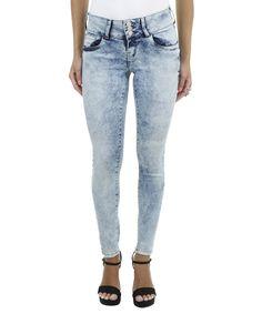 Calça Jeans Skinny Azul Claro - cea