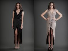 2 in 1 Dress - Black & Nude 21st Dresses, Formal Dresses, Reversible Dress, Business Women, Wrap Dress, Cashmere, Silk, Dress Black, Blogging