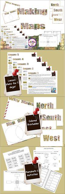 Sharing Kindergarten: Making Maps 5 days of lessons