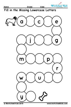 Free printable uppercase missing alphabet worksheet A to Z activity is wonderful way to test the kids understanding about uppercase English letters. kids finishing this worksheet practice will able to writing the letters A to Z. Alphabet Activities Kindergarten, English Worksheets For Kindergarten, Letter Worksheets For Preschool, Preschool Writing, Kindergarten Learning, Tracing Worksheets, Preschool Letters, Handwriting Worksheets, Handwriting Practice