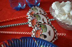 Candy bar. Трубочки для вечеринки с Тачками. Cars party