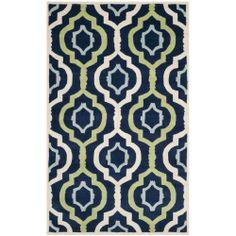 Safavieh Handmade HAND TUFTED Moroccan Chatham Dark Blue Wool Area Rug (6' x 9') | Overstock.com Shopping - Great Deals on Safavieh 5x8 - 6x9 Rugs