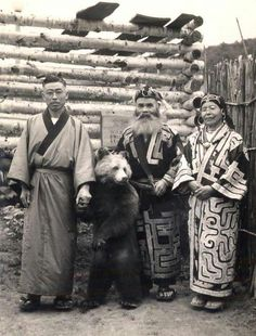 Population: Not a very big number of Koreans live in Japan. 0.5% Also there are not many Chinese. 0.4% There is an ethnic group that lives in Japan called the Ainu. Thats who is in this picture.