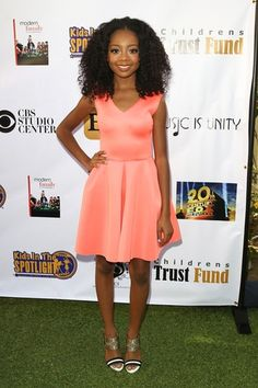Skai Jackson.... She is so talented and so sassy on Disney's Bunk'd and Jesse