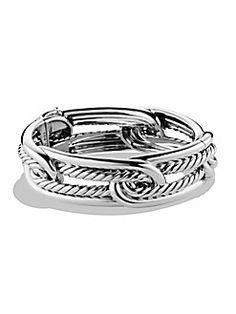 David Yurman - Sterling Silver Interlocked Cuff Bracelet