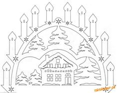 Decoration of windows on Christmas and New Year. And stencils. - Club New Year's Ideas and Prepare sleighs in summer. Christmas Stencils, Christmas Templates, Christmas Crafts, Christmas Ornaments, Decorating With Christmas Lights, Christmas Decorations, Paper Cutting, Kirigami Templates, Decoupage Box