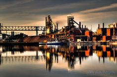 Essar Steel in Sault Ste. Marie (formerly Algoma Steel), by Billy Wilson Urban Photography, Landscape Photography, Places Ive Been, Places To Go, Sault Ste Marie, Rocky Shore, Great Lakes, Canada Travel, Ontario