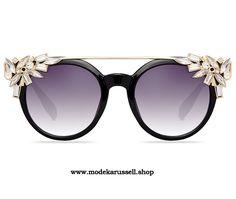 Damen Sonnenbrille mit Kristall Blumen - elegante sonnebrillen online
