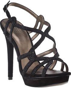 ShopStyle: Pelle ModaFlirt Evening Sandal Black Suede