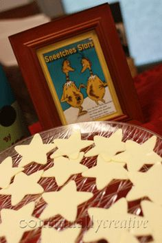 Dr Seuss Book Food Ideas. I've seen these stars made out of watermelon!