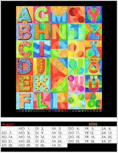 Gruppenprojekt Kalender 2016 - Monat August