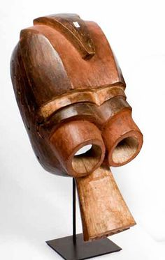 Mumuye Mask Benue River area, Nigeria  Stained wood
