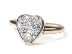 Three In One - Edwardian Heart Diamond Ring