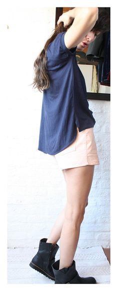 Womens round neck Short Sleeve Tee Olinda Blue by holacrystal