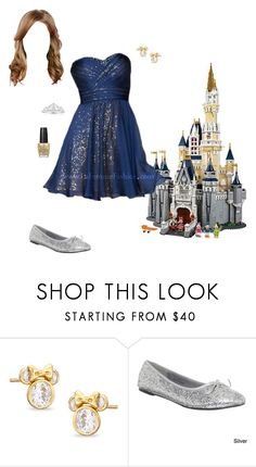 """""""Disney Lego - The Disney Castle"""" by briony-jae ❤ liked on Polyvore featuring Funtasma and OPI"""