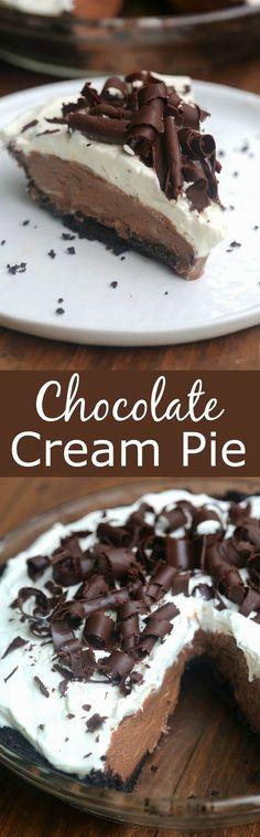 (6) Chocolate Cream Pie | Recipe