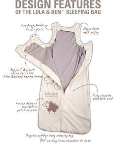 Design Features des Vier-Jahreszeiten-Baby-Schlafsack von Lola & Ben