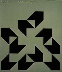 movement, grid, repetition  brochure cover by Michael Reid (1972)