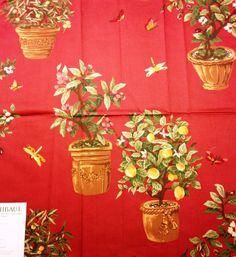 Thibaut Fabric Greenhouse Red 100 Cotton Gazebo by Fabricsamples10