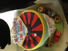 30th birthday Las Vegas cake.
