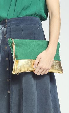 The Belinda Clutch ///// Emerald Green Clutch